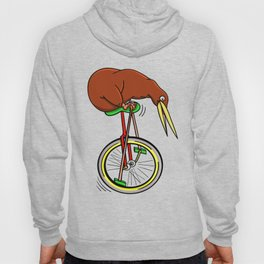 Kiwi Riding A Unicycle Hoody