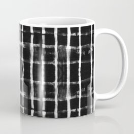 Shibori black horizontal and vertical stripes Coffee Mug