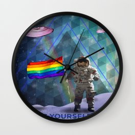 BE YOURSELF - PRIDE Wall Clock