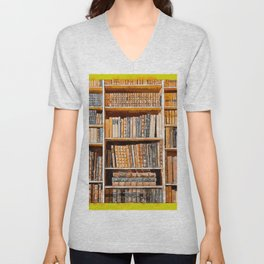 books background in watecolor style Unisex V-Neck