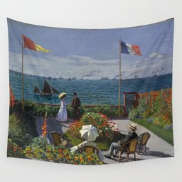 Claude Monet - Garden at Sainte-Adresse (1867) Wall Tapestry