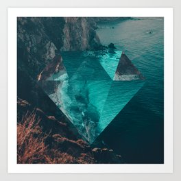 The Sea's Diamond Art Print