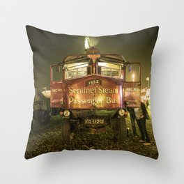 Sentinel Steam Bus by night  Throw Pillow