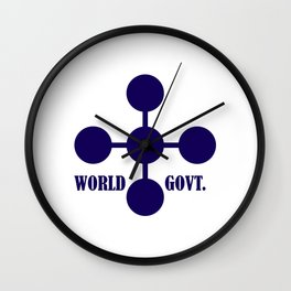 world government Wall Clock