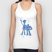 toy story Tank Tops featuring Woody and Buzz Toy Story Disneys by Carma Zoe