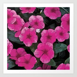 Flowers #2 - Periwinkles Art Print