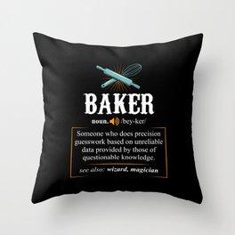 Baker Definition. - Gift Throw Pillow