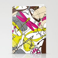bugs Stationery Cards featuring bugs by Beatriz Lamanna