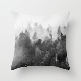 Forest Melody - Redwood National Park Throw Pillow