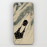 pool iPhone & iPod Skins featuring Pool by Agne Nananai