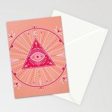 Evil Eye Mandala – Pink Stationery Cards
