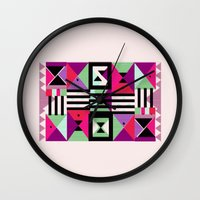 Violet Triangulation Wall Clock