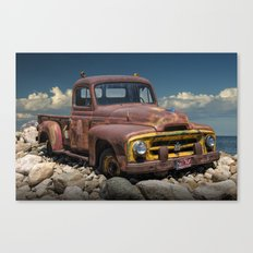 Old Rusted International Harvester Pickup Truck Canvas Print