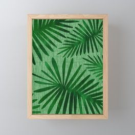 Emerald Retro Nature Print Framed Mini Art Print