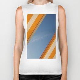 Orange blue sky Biker Tank