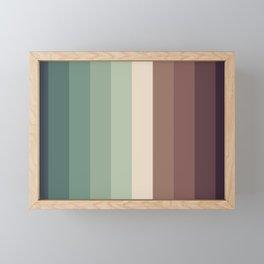 autumn season color pattern - striped fall colors Framed Mini Art Print