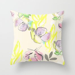 Femme Florale Throw Pillow