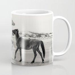 Wild Horses 5 - Black and White Coffee Mug