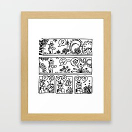 Comic: page one of Horticultural Fudge Framed Art Print