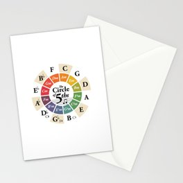 Circle of Fifths Music Theory Wheel Classical Harmony Chords Stationery Cards