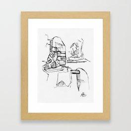 Warbot Sketch #027 Framed Art Print