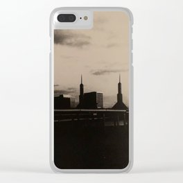 Downtown storm Clear iPhone Case