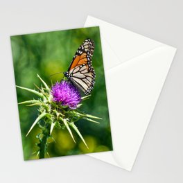 monarch with mustard Stationery Cards