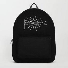GET SHIT DONE MONOCHROME Backpack
