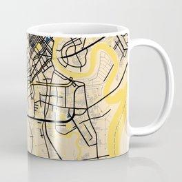 Ho Chi Minh Yellow City Map Coffee Mug