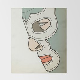 BLUE DEMON Throw Blanket