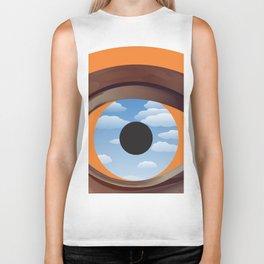 magritte's eye Biker Tank