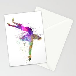 woman ballerina ballet dancer dancing Stationery Cards