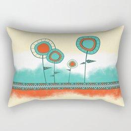 Four Wild Flowers Rectangular Pillow