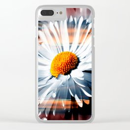 Daisy In Sunset By Annie Zeno Clear iPhone Case