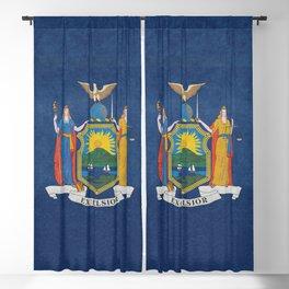New York State Flag, vintage retro style Blackout Curtain