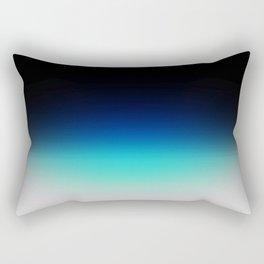 Blue Gray Black Ombre Rectangular Pillow