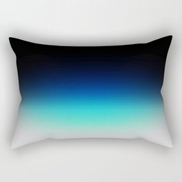 Blue Gray Black Ombre Rectangular Pillow