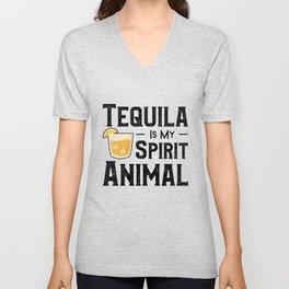 Tequila Is My Spirit Animal Unisex V-Neck