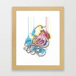 Octopus Ink Framed Art Print