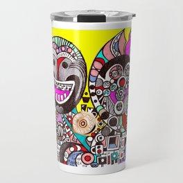 Invasion of Trolls (abstract fantasy drawing) Travel Mug