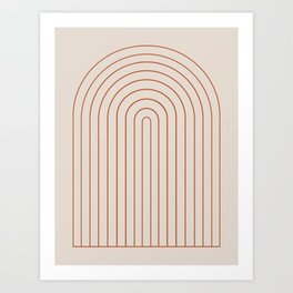 Minimalist Arch XVI Art Print