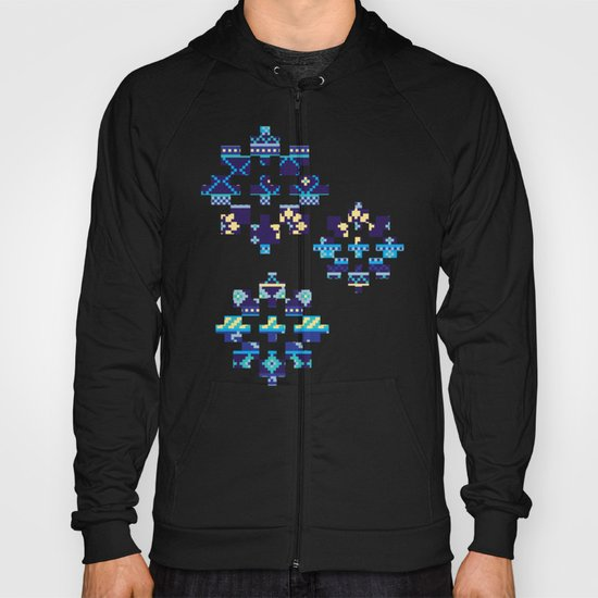 Cheery Blues Geometric Pattern Hoody