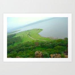 Kenya Landscape Art Print