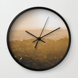 Golden Hour - Los Angeles, California Wall Clock