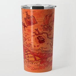 Pirate's Treasure Map (Windward side) Travel Mug