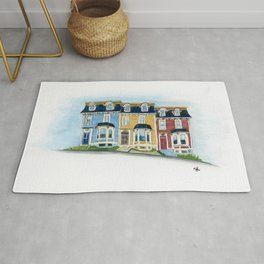 Jellybean Row - Newfoundland houses, buildings Rug