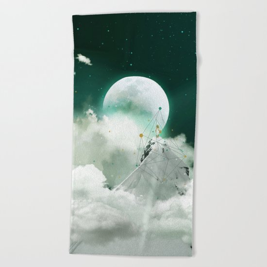 COME TO KISS GOODNIGHT Beach Towel