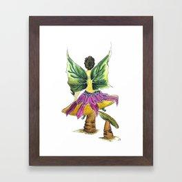 Tilting Mushrooms Fairy Framed Art Print