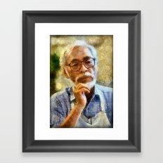 birthday tribute to the inspirational human Framed Art Print
