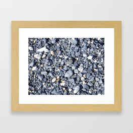 Stony beach Framed Art Print